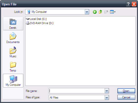 Customized Common File Dialog